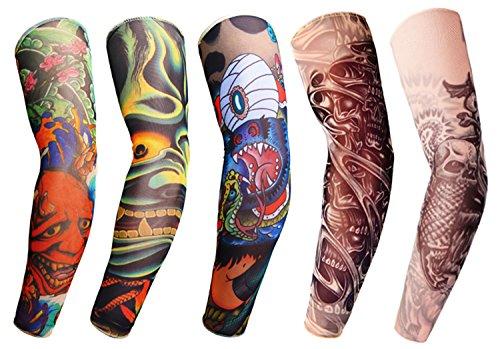 #1 Medium Gymforward Mangas con tatuaje para el brazo paquete de 5 unidades