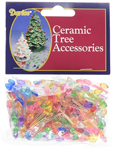 Darice Ceramic Christmas Tree Bulbs. 25-inch 250/Pkg-Mini Flame-Multicolor