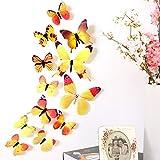 立体3D蝶々 Timsa かわいらしい蝶の部屋かざり 蝶 壁紙 立体 3D かわいい ウォールステッカー 壁紙シール 華やかな壁紙 ウォールステッカー インテリア 模様替え 12匹 蝶型貼り紙 寝室 リビング教室飾り用 人気 流行 (ピンク)