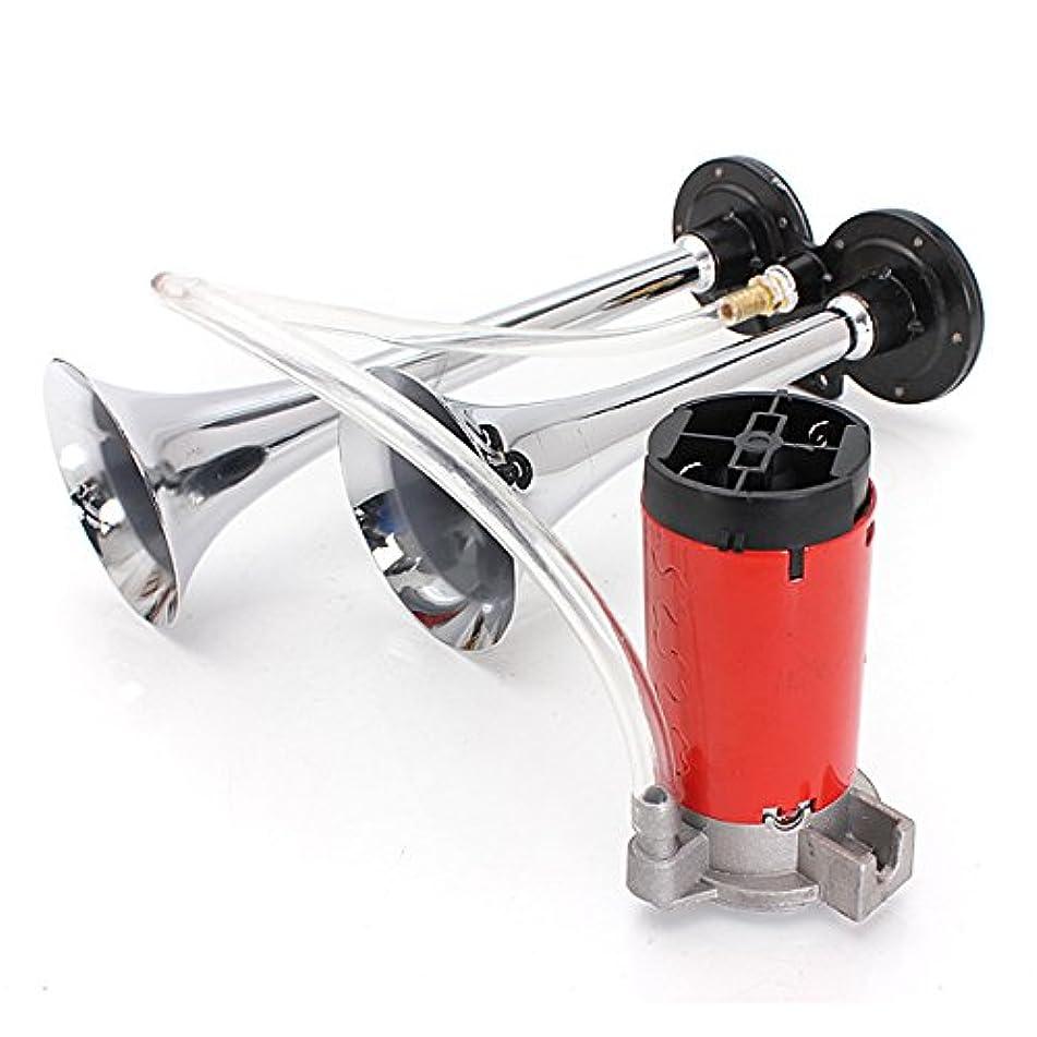 溶接花婿ご近所12?VエアホーンデュアルトランペットSuper Loud Withコンプレッサーツイントーン?–?車Electronics