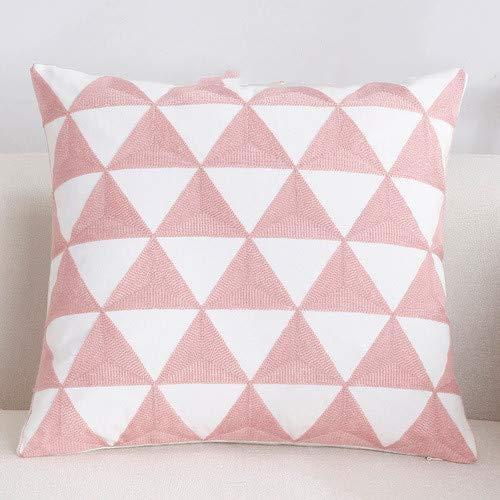 Almohada de sofá, almohada bordada, almohada de oficina, almohada de dormitorio (45 * 45 CM)