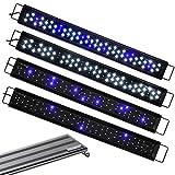 AQUANEAT - Luz LED para acuario de color ajustable, 12 pulgadas, 20 pulgadas, 24 pulgadas, luz para pecera, azul marino y blanco (127 – 54 pulgadas)