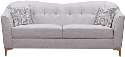 Danube Home Alermo 3 Seater Fabric Sofa - Oatmeal