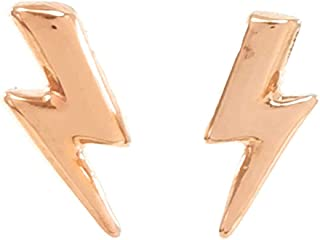 Aretes de Rayo - Rose Gold - Elegantia Jewelry
