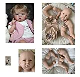 iCradle Kit de Kit de muñeca Reborn de Silicona Suave sin Pintar Accesorios de Suministro de Piezas Ideal para DIY Reborn Doll Tamaño Final 23 Pulgadas Cabeza Ojos Tela Cuerpo 4 extremidades(2003)