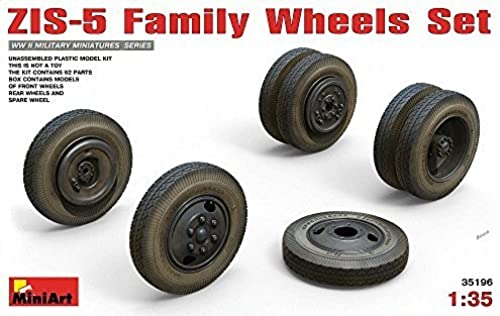 grandes precios de descuento MIA35196 1 35 MiniArt ZIS-5 Family Wheel Set [ACCESSORY SET SET SET FOR MODEL BUILDING KIT] by MiniArt  100% a estrenar con calidad original.