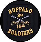 Set of 3 (3') Diameter Cloth Patch Buffalo Soldiers 9th and 10th Cavalry Logo Can Be Ironed On Or Sewn Works On All Clothing