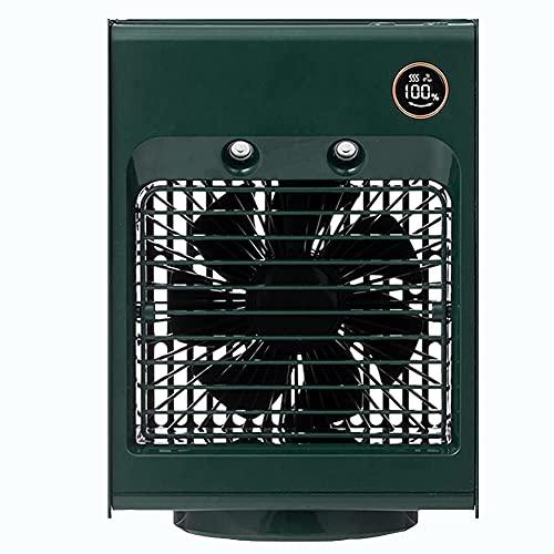 XJYDS Portatile Mini Air Cooler Fan USB Aria condizionata Ventola Rotativa Acqua Spray Spray Umidificatore Ventola di Raffreddamento 4 Colori Umidificatore Purificatore, Bianco (Color : Green)