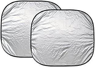 Custom Accessories 17950 25-Inch x 28-Inch Nylon Loop Solar Shield Sunshade, 2 Piece