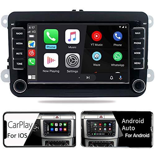 android auto radios SCUMAXCON Android10 2Din Car Stereo Radio DZT017 Carplay Android Auto Bluetooth USB RVC SWC for VW Jetta Golf Passat Caddy Tiguan Transporter CC Altas