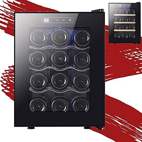 NFRMJMR Refrigerador del refrigerador de Vino, refrigerador de Vino Botella Incorporado o Independiente con Control Digital de Temperatura, Vidrio en Capas, fácil de operar el Vino del compresor para