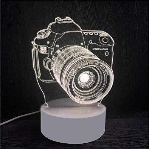 Kamera Led Nachtlicht Monochrom Warmes Licht Cartoon 3d Acryl Geschenk Tischlampe Usb Kinder Schlafzimmer Lampe