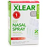 Xlear Nasal Spray with Xylitol, All-Natural Saline Nasal Spray for Sinus Rinse & Sinus Relief 0.75 fl oz (3 Pack)