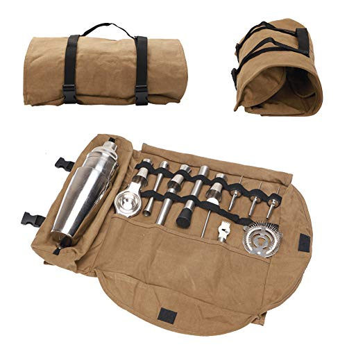 Bolsa de herramientas Tuxi para barman, juegos de barras portátiles con gran capacidad, bolsa de barman, bolsa de herramientas para hacer cócteles, para el hogar, bar, lugar de ocio, viajes