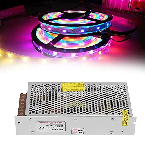 Controlador de fuente de alimentación de interruptor, controlador de tira de luz LED Aislamiento duradero para pantalla LED para ingeniería informática(S-150-48(48V/3A/150W) AC110/220V±15%, pink)