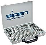alpen 500016100 - Juego de brocas percutoras F4 forte y cinceles plano, en punta y ancho (16 piezas, SDS-plus, en estuche de metal)