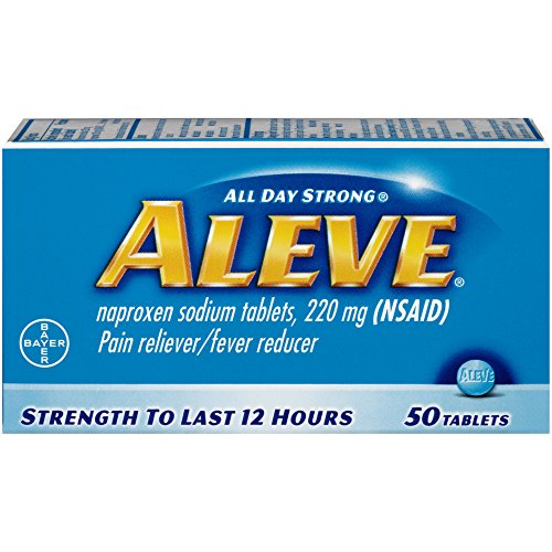 Aleve Pain Reliever/Fever Reducer Tablets, 50 ea (Pack of 2)
