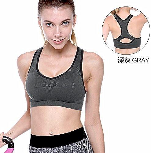 ZHUDJ Les Particules d'un Soucravaten-Gorge De Sport Porteur De Rembourrage pour Yoga Vest Pas l'anneau d'acier De L'été Sports Bra, voiturebone, 80B
