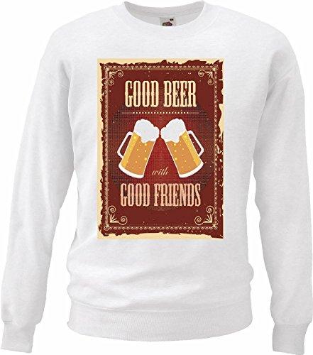 Sweatshirts Goede bier, goede vrienden, bier, tarwebier, zijde, bier, bier, bier, bier, glas, alcohol, bierparty, wodka, wijn, gedistilleerde drankspiegel, wijnspiegel
