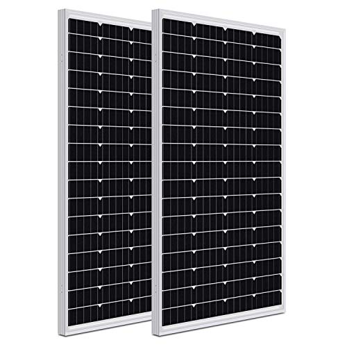 WEIZE 200 Watt 12 Volt Monocrystalline Solar Panel, 2 Pack of 12V...