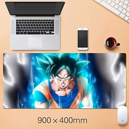 Gaming Mouse Pad,for Dragon Ball Z Sun Wukong Extended Large Keyboard Mouse Mat 800x300mm Computer Dormitory Table Pad for Laptop Home Office Working (Color : E) (Color : C)