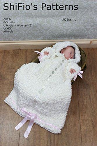 Crochet Pattern - CP134 - Baby Sleeping Bag - 0-3mths - UK terminology (English Edition)
