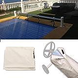 Destinely Aufrollvorrichtung Für Aufstellpools Kunststoff Für Becken Mit Einem Schutz Versehen Wasserabweisenden Pool Solar Cover Reel