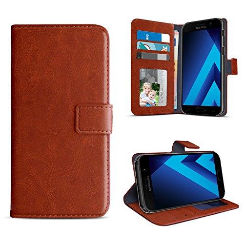 eFabrik Schutzhülle für Samsung Galaxy A5 2017 Tasche (SM-A520 / A520F) Handy Hülle Schutztasche Hülle, Farbe:Braun