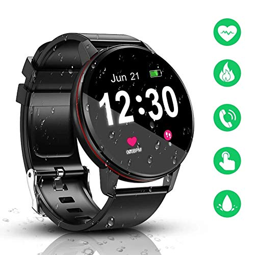 Smart Watch, IP68 Waterproof with 1.3 Inch Full Touch Screen...