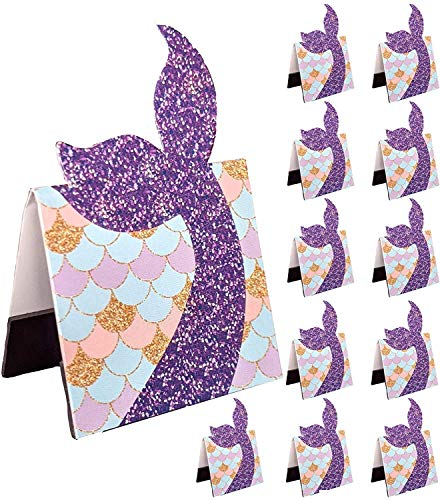 Mermaid Bookmark Party Favors for Girls Birthday School Prizes 12-Pack