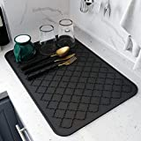 Dish Drying Mats for Kitchen Counter,Eco friendly,Heat Resistant Mat 16' x 18'