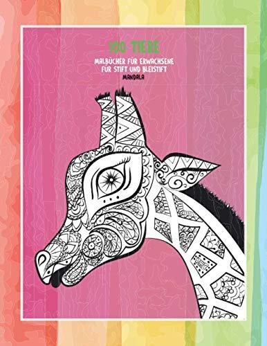 Malbücher für Erwachsene für Stift und Bleistift - Mandala - 100 Tiere
