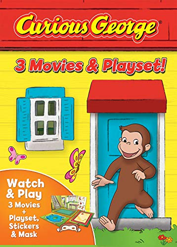 Curious George: 3 Movies amp Playset