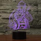XDOUBAO Bombero Bombero camión acrílico 7 Colores Escritorio lámpara lámpara 3D Novedad Noche luz-púrpura