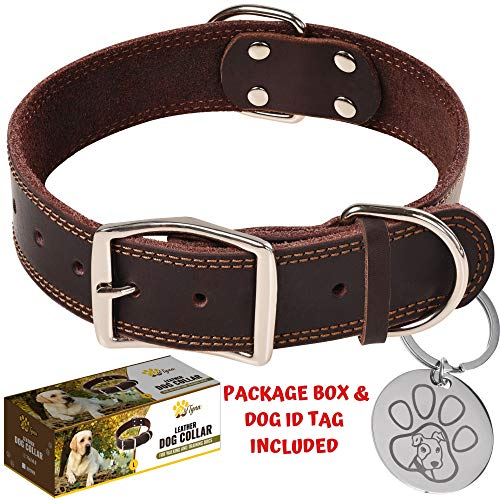 ADITYNA Leather Heavy Duty Dog Collar