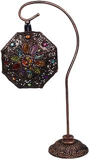 WLXJDJ LáMpara De Mesa De Mosaico Turca, Impresionante Estilo Marroquí, úNica Pantalla De Forma GeoméTrica, Inspirado Estilos LáMpara De Mesa De Cristal E14 * 1,B