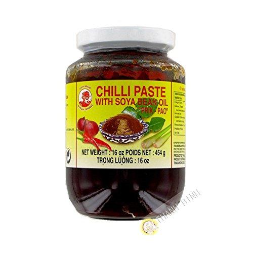 Chili-Paste - Nam Prik Pao, mit Sojabohnenöl, Cock Brand, 454g