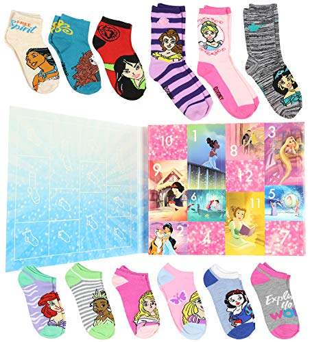 Disney Princess Girls 12 Days of Socks Holiday Advent Calendar (6/8)