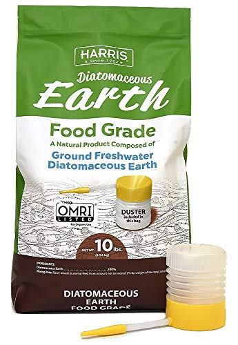 HARRIS Diatomaceous Earth Food Grade  10lb with Powder Duster Included in The Bag