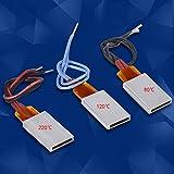 Filfeel PTC - Placa calefactora (3 unidades, CA/CC, 12 V, termostática, aluminio, cerámi...