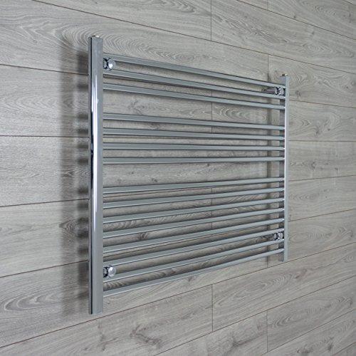 Heated Chrome Bathroom Towel Rail Radiator 1100mm wide 800mm high