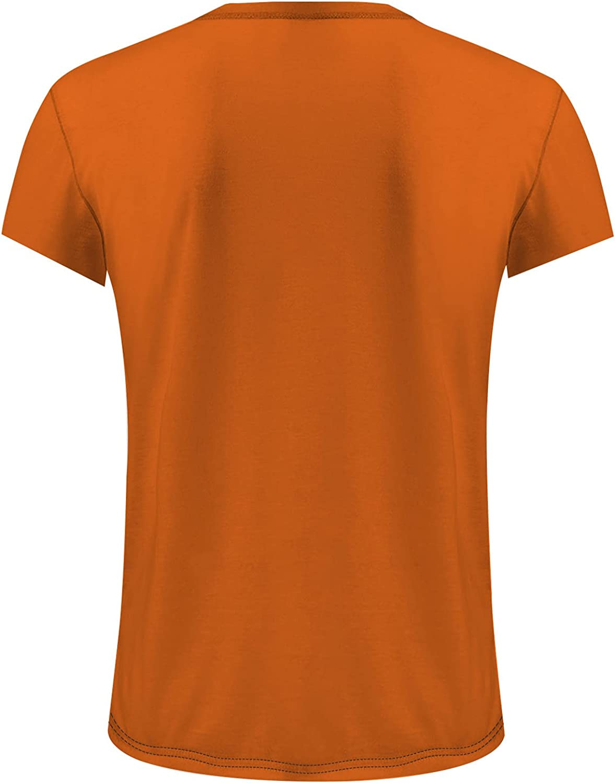 HONGJ Halloween Jack-O-Lantern T-shirts for Mens, Funny 3D Pumpkin Printed Crewneck Tee Tops Athletic Casual Tshirt