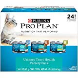 Purina Pro Plan Focus Classic Urinary Tract Health Formula Adult Wet Cat Food Variety Pack, 3 oz, Count of 24, 24 CT