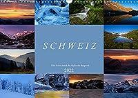 Schweiz - Eine Reise durch die idyllische Bergwelt (Wandkalender 2022 DIN A3 quer): Landschaftsfotos aus dem Berner Oberland, Wallis, Baselbiet und der Innerschweiz (Monatskalender, 14 Seiten )
