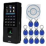KDL Biométrico Reconocimiento de Huellas Dactilares Acceso RFID Tiempo de Asistencia Máquina Empleado Nómina Grabadora TCP/IP Red, 10pcs 125KHz Keyfobs