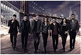 Shadowhunters: The Moral Instruments Group Cast Shot Standing in Line Looking Sexy and Fierce 8 x 10 Inch Photo