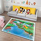 Contemporary Designer Rug Cartoon Winnie The Pooh Traditional Living Room Rugs Decorative Area Carpet Soft Non Slip Antifouling Durable Rug for Kitchen Rugs Bedrooms Kids Room Yoga Mat120x170cm D4189