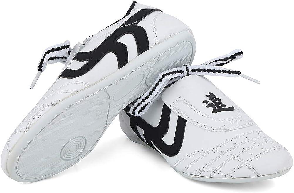 Fsskgxx Zapatos de Taekwondo, Zapatillas de Deporte de Artes Marciales para niños Zapatos Deportivos livianos para Entrenamiento de Karate Kung fu Tai chi de Boxeo