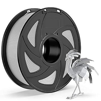 E-DA PETG 3D Printer Filament, PETG Filament 1.75, With High Strength and Better Transparent, 3D Printing Filament for 3D Printers, Dimensional Accuracy +/- 0.02mm, (Grey)