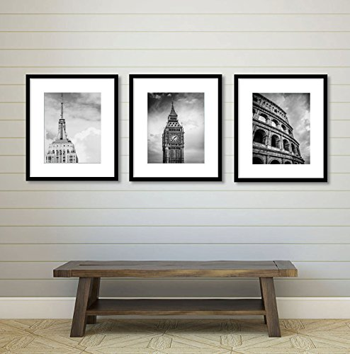 Amazon Com Set Of 3 City Prints London New York Rome Wall Art Decor Print Travel Living Room Anniversary Gift Birthday Bedroom